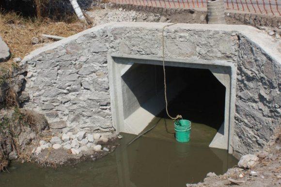 CONSTRUYE  AGUA Y SANEAMIENTO DE TOLUCA COLECTOR DE ALIVIO EN SAN CAYETANO MORELOS
