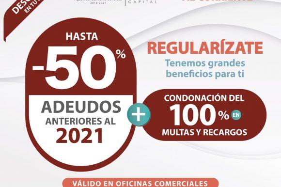 OFRECE OAyST DESCUENTOS PARA REGULARIZAR ADEUDOS EN SERVICIO DE AGUA